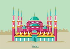 Ilustração histórica do vetor da mesquita de Ahmet do histórico