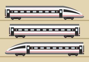 Transporte ferroviário de tgv vetor