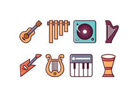 Ícones de Instrumentos Livres vetor