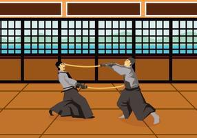 Ilustração gratuita de Kendo vetor