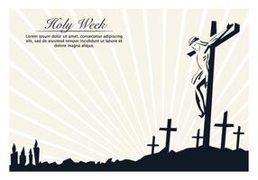 Dia da Semana Santa vetor