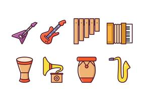 Ícones instrumentais gratuitos vetor