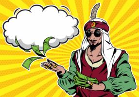 Ilustração do pop art do sultão vetor