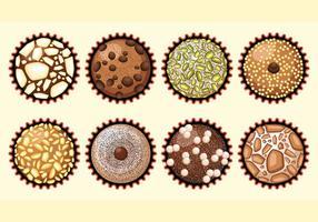 Brigadeiro de chocolate brasileiro vetor