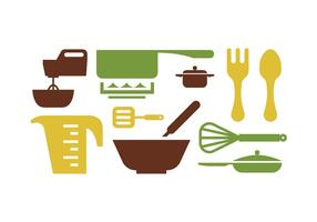 Utensílios de cozinha vetor