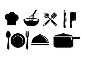 Vetor de ícones de cozinhar
