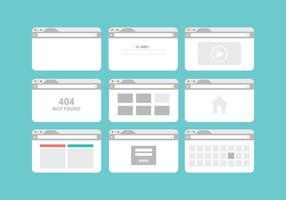 Pacote de vetores do navegador gratuito