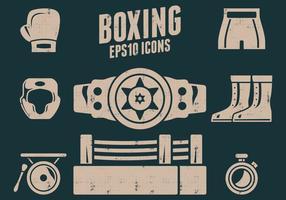 Ícones de boxe vetor