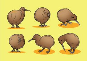 Vetor de ícones de pássaro kiwi grátis
