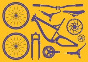 Conjunto de acessórios para bicicletas vetor