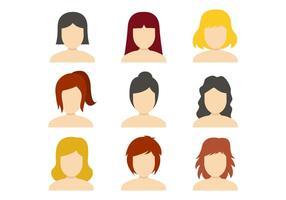Vetor de ícones da mulher livre