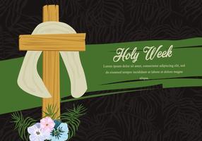 Fundo da palma da semana santa vetor