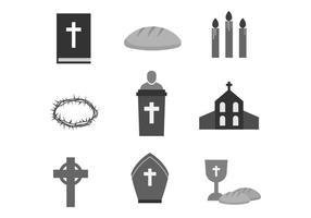 Ícones gratuitos da Semana Santa vetor