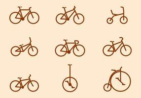 Coleções de vetores de bicicletas gratuitas
