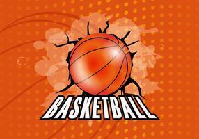 Fundo da textura do basquete vetor