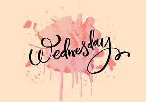Quarta-feira, aguaceiro de tinta vetor