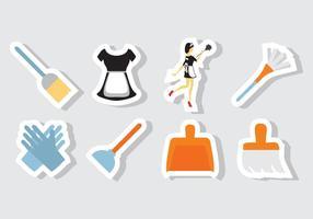 Vetor de ícones do serviço de limpeza gratuito