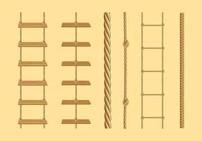 Vetor livre de escada de corda