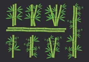 Ícones de bambu vetor