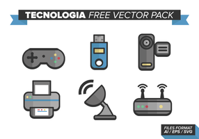 Pacote de vetores gratuitos de tecnologia
