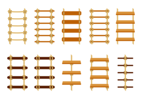 Vetor de escada de corda livre