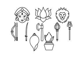 Livre grátis do Durga vetor