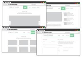 Design do navegador da Web vetor