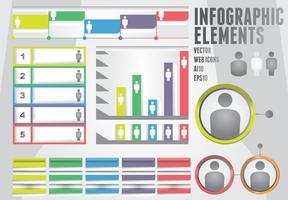 Elementos de informação vetor