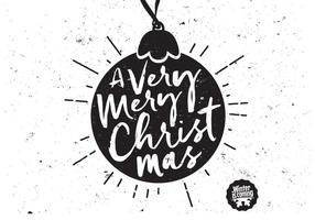 Ornamento preto do Natal do globo vetor