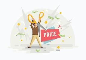 Ilustração gratuita de preços de corte de tesoura vetor