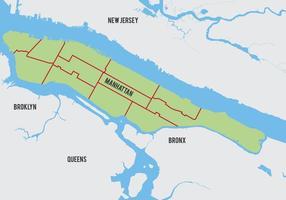 Vetor do mapa de Manhattan