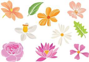 Vetores de flores simples grátis