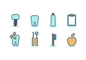 Ícones de Odontologia Grátis vetor