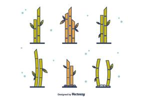 Conjunto Bamboo Gratuito vetor