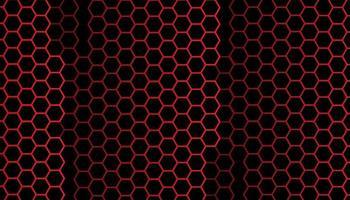 fundo abstrato hexágono vermelho
