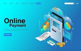 conceito de pagamento de smartphone online