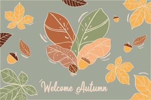 composição bem-vindo outono vetor