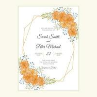 cartão de convite de casamento rústico