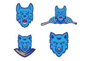 Vetor dos lobos grátis