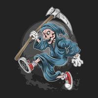 esqueleto ceifador correndo