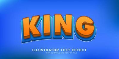 design de efeito de texto em negrito rei vetor