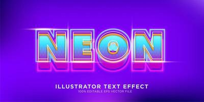 efeito de texto neon retro