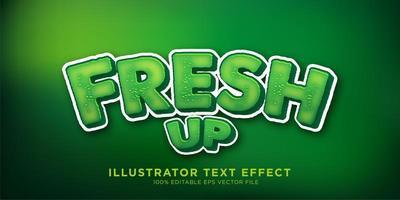 design de efeito de texto fresco verde vetor