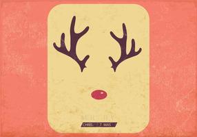 Antlers e vetor de nariz vermelho