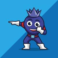 personagem mascote de mirtilo