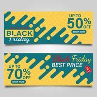 conjunto de banner de venda sexta-feira negra vetor