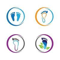 conjunto de cuidados com os pés vetor
