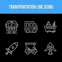 conjunto de ícones de transporte vetor