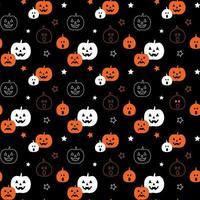 Padrão sem emenda de abóboras de halloween com estrelas vetor