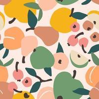 padrão sem emenda com frutas vetor